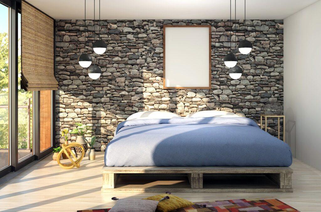 Bett auf Palette